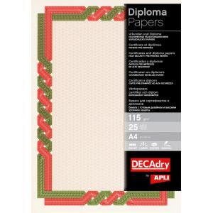 Certifikačný papier červeno-zelený 115g