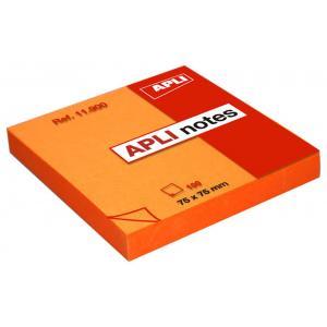 Bloček samolepiaci oranžový 75x75mm 100 lístkov APLI notes
