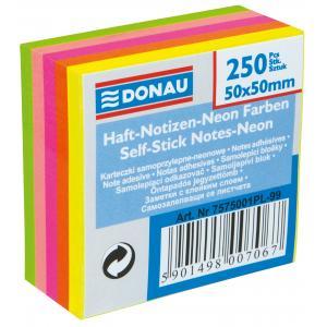 Bloček kocka samolepiaca v 5 neónových farbách 50x50mm
