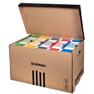 Archívna škatuľa so sklápacím vekom DONAU hnedá
