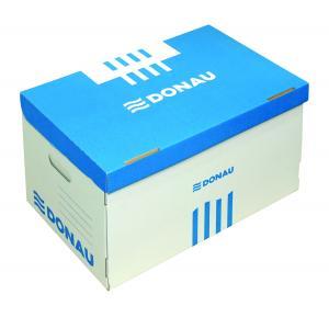 Archívna škatuľa s odnímateľným vekom DONAU modrá