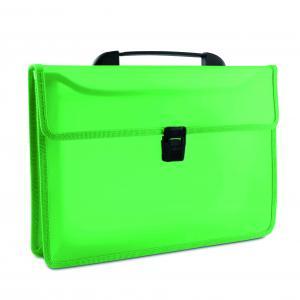 Aktovka s držadlom plastová zelená