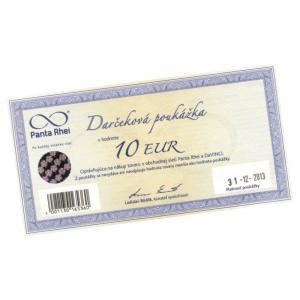Darčeková poukážka Panta Rhei 10 EUR
