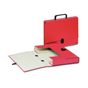 Aktovka kartónová s držadlom Esselte červená