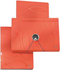 Aktovka plastová s priehradkami Leitz Vivanto oranžová
