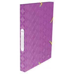 Plastový box s gumičkou Leitz Retro Chic fialový
