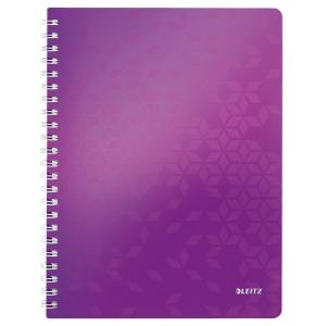 Blok poznámkový štvorčekový Leitz WOW A4 purpurový