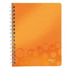 Blok poznámkový linajkový Leitz WOW A5 metalický oranžový