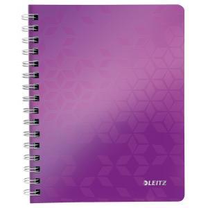 Blok poznámkový linajkový Leitz WOW A5 purpurový