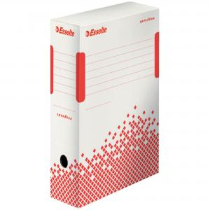 Archívny box Esselte Speedbox 100mm biely/červený