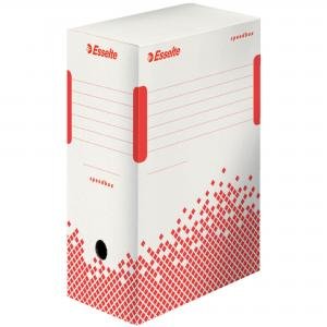 Archívny box Esselte Speedbox 150mm biely/červený