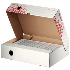 Archívny box Esselte Speedbox so sklápacím vekom 80mm biely/