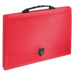Aktovka plastová s priehradkami a držadlom Esselte VIVIDA červená