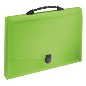Aktovka plastová s priehradkami a držadlom Esselte  VIVIDA zelená