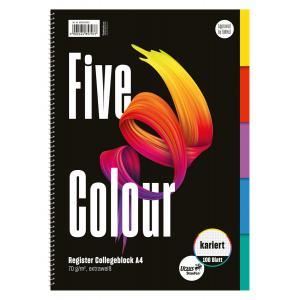 Blok College Format Werk Ursus A4 100 listov štvorčekový farebný register
