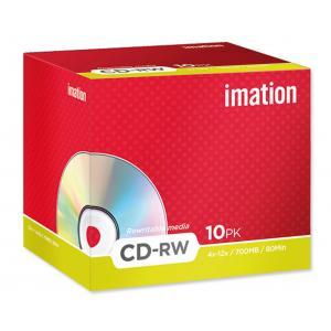 CD-RW Imation 4-12x, klas,obal 700 MB