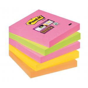 Bločky Post-it Super Sticky Kapské Mesto 76x76 neónové farby