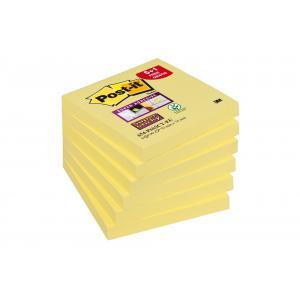 Bločky  Post it Super Sticky 76x76mm žlté 6 x 90 lístkov promo balenie 5+1