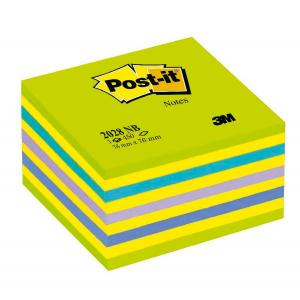 Bloček kocka Post-it 76x76 neónová zelená mix