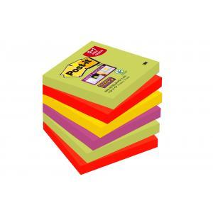 Bločky  Post it Super Sticky 76x76mm Marrakech 6 x 90 lístkov promo balenie 5+1