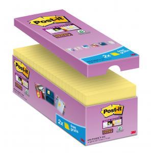 Bločky Post-it Super Sticky žlté 76x76mm 16x90l