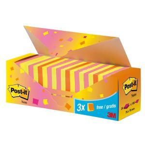 Bločky Post-it Super Sticky neónová 76x76 zvýhodnené balenie
