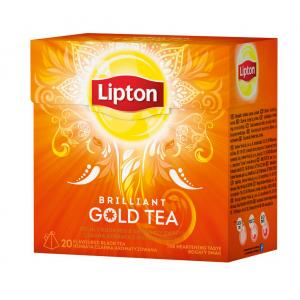 Čaj Lipton čierny Gold tea Brilliant pyramídy 36g