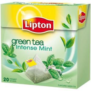 Čaj Lipton zelený Intensive Mint 32g pyramídy