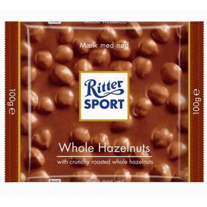 Čokoláda Ritter Sport lieskovooriešková mliečna 100g