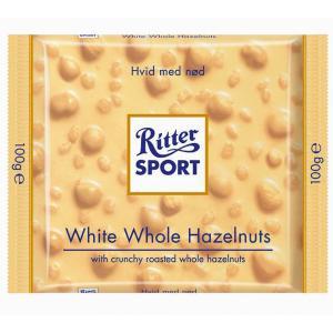 Čokoláda Ritter Sport  lieskovooriešková biela 100 g