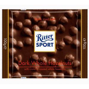 Čokoláda Ritter Sport   lieskovooriešková tmavá100 g