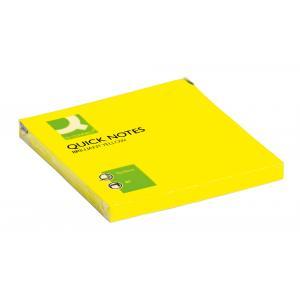 Bloček Q-CONNECT neónové 76x76mm žlté