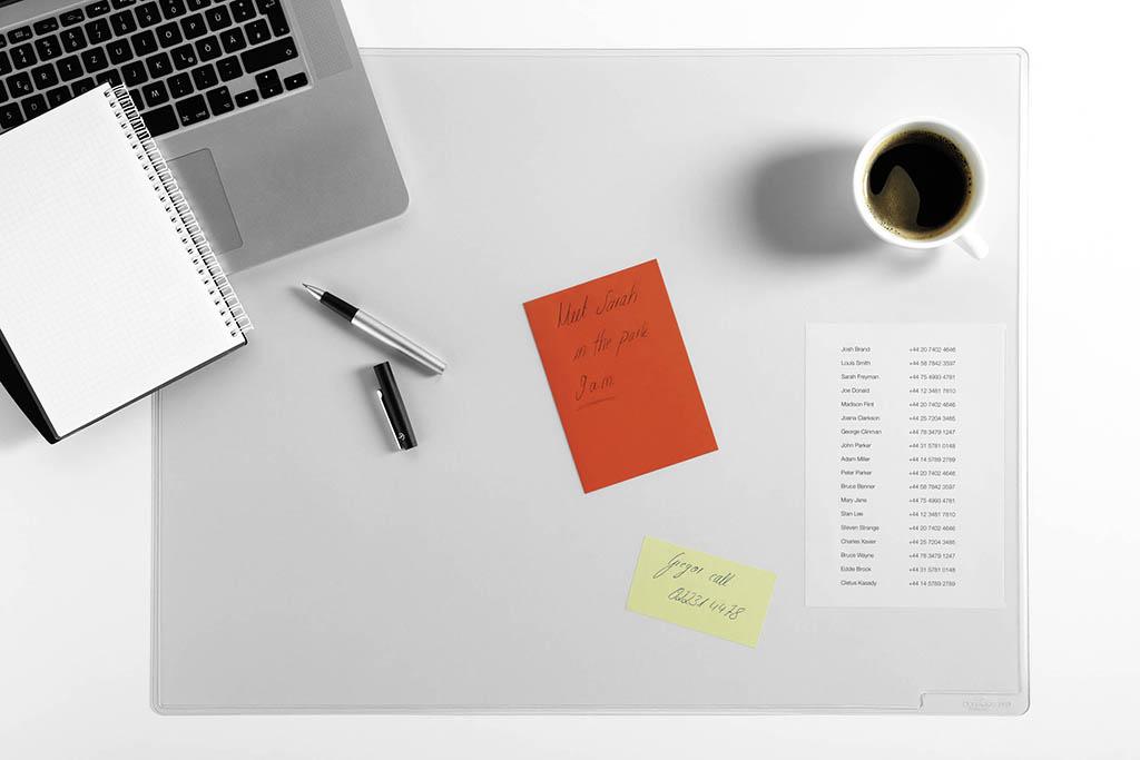 Majte dôležité informácie poruke s podložkami na stôl