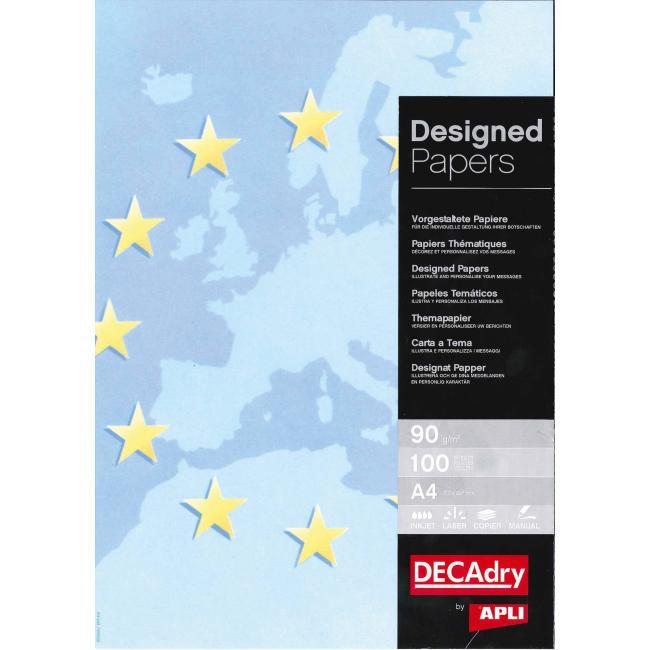 Ilustračný papier Europa modrý 90g