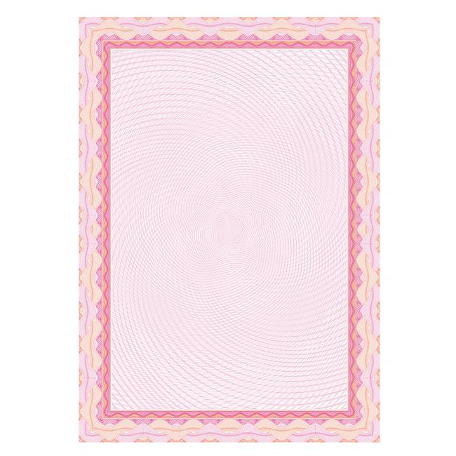 Certifikačný papier A4 bledo ružový 115g, 25 ks