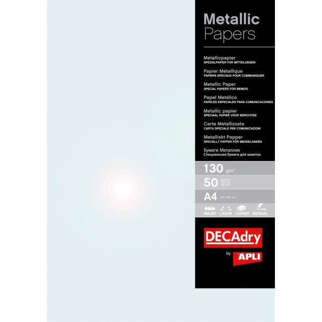 Metalický papier perlová 130g