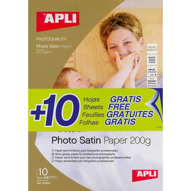 Fotopapier APLI Satin 200g A4 /20
