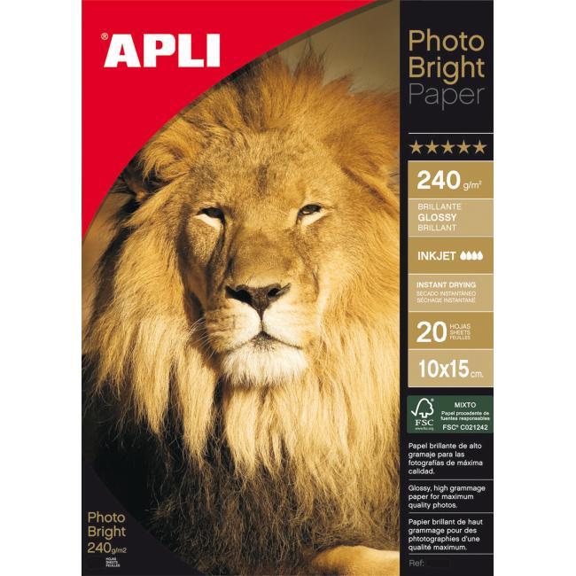 Fotopapier APLI Bright PRO 240g 10x15cm /20