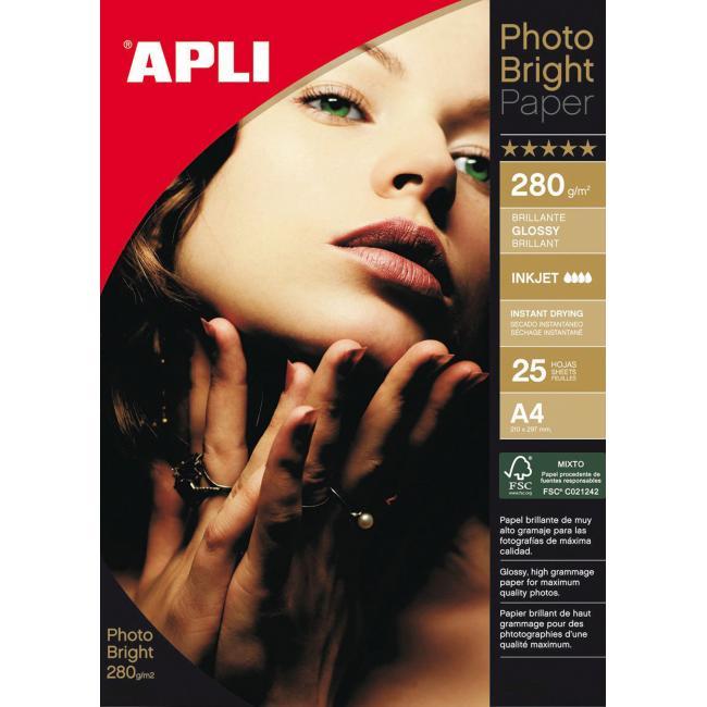 Fotopapier APLI Bright PRO 280g /25