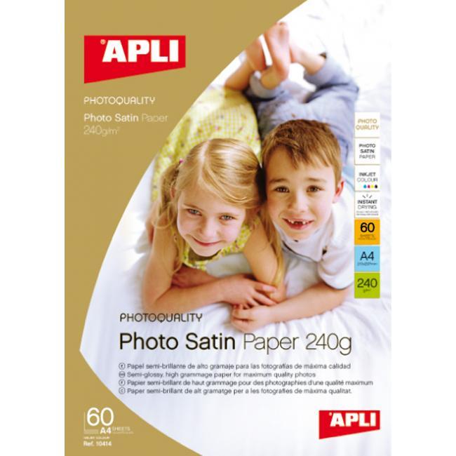 Fotopapier APLI satin 240g 25hár