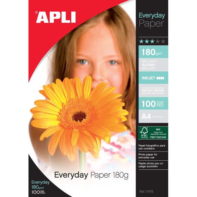Fotopapier APLI Everyday 180g/100
