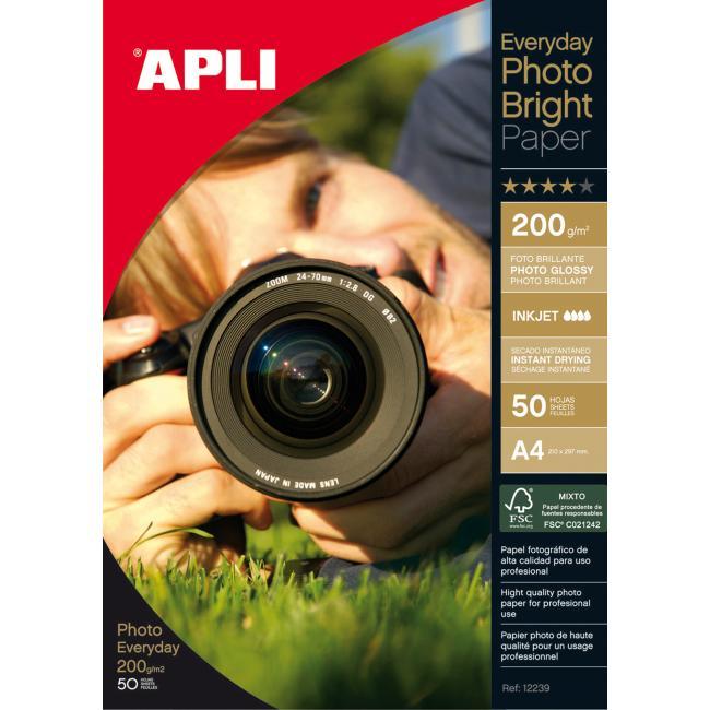 Fotopapier APLI Bright 200g A4 /50