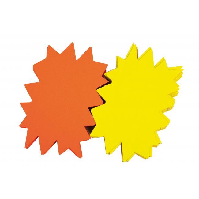 Popisovateľný farebný kartón ježko 12x16, mix žltá-oranžová