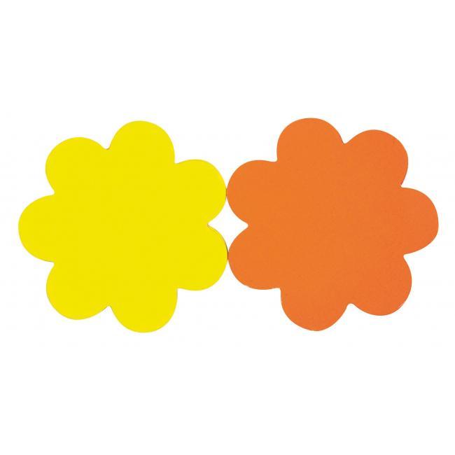 Popisovateľný farebný kartón kvet, mix žltá-oranžová