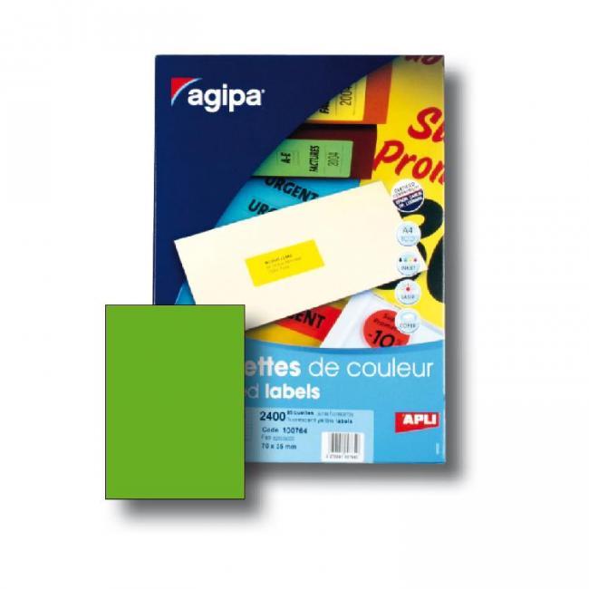 Etikety univerzálne fluo.zelené A4