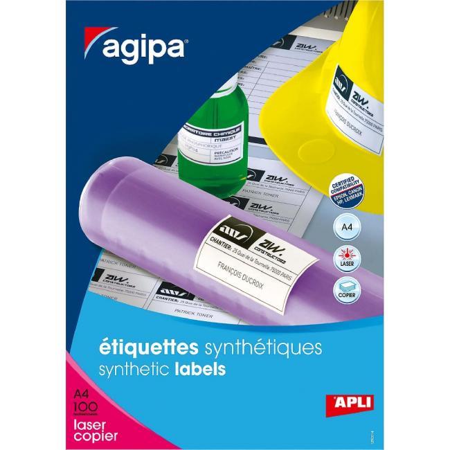 Etikety polyesterové biele 210x297mm