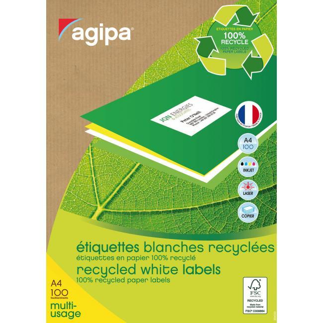 Etikety univerzálne recyklované 38x21,2mm