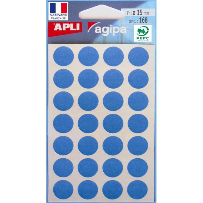 Etikety 15 mm modré, maloobch.balenie