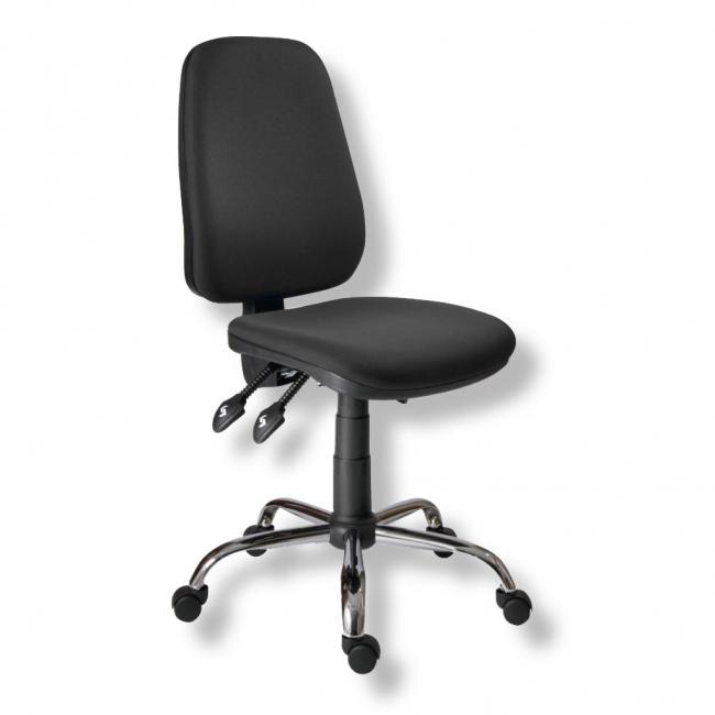 Kancelárska stolička 1140ASYN C chróm/čierna AM117T