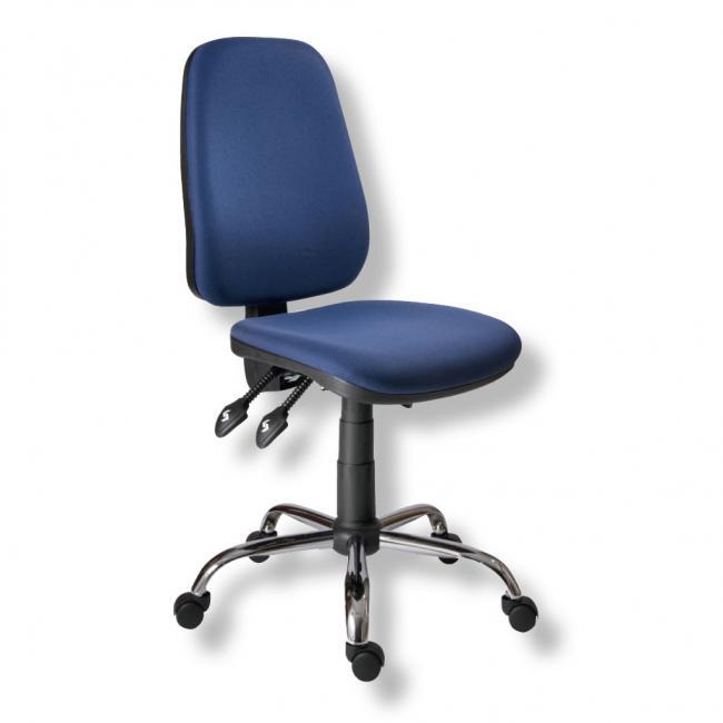 Kancelárska stolička 1140ASYN C chróm/modrá AM112T